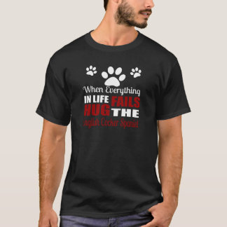 Hug The English Cocker Spaniel Dog T-Shirt