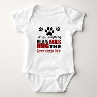 Hug The German Wirehaired Pointer Dog Baby Bodysuit