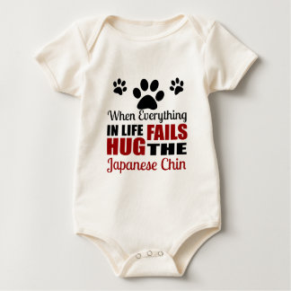 Hug The Japanese Chin Dog Baby Bodysuit