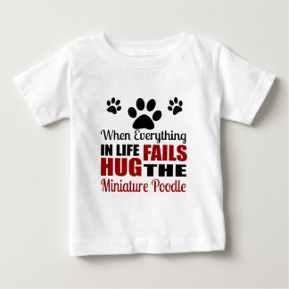 Hug The Miniature Poodle Dog Baby T-Shirt