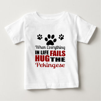 Hug The Pekingese Dog Baby T-Shirt