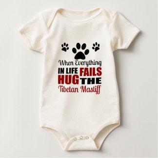 Hug The Tibetan Mastiff Dog Baby Bodysuit
