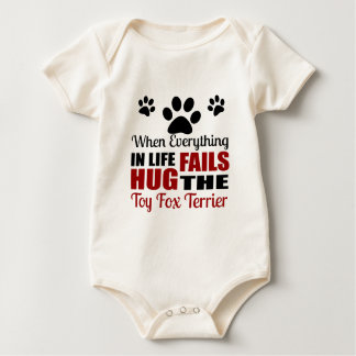 Hug The Toy Fox Terrier Dog Baby Bodysuit