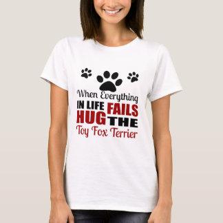 Hug The Toy Fox Terrier Dog T-Shirt
