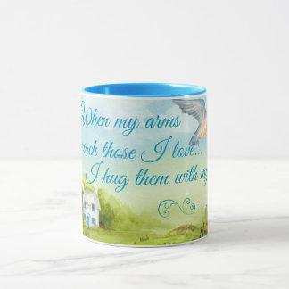 Hug With My Prayers 11 oz Ringer Mug