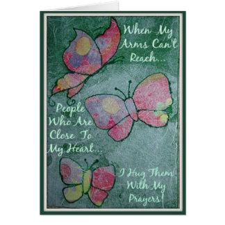 Hug You With My Prayers Greeting Card