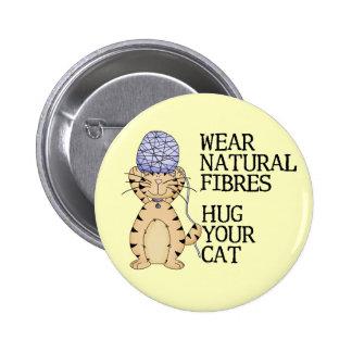Hug Your Cat Pinback Button