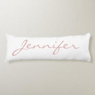 """Hug Yourself"" Pink Textured Monogrammed Name Body Cushion"