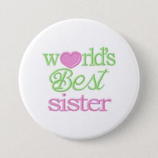 "Huge 3""inch ""Worlds Best Sister Jumbo Pin"