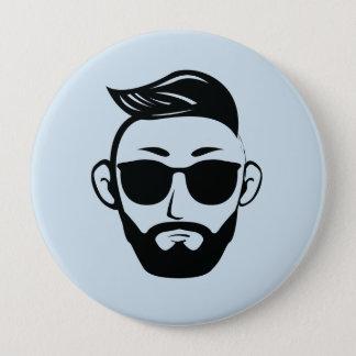Huge, 4 Inch Round Button - Man Style