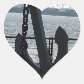Huge Anchor Heart Sticker