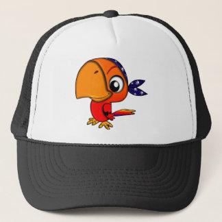 Huge beak cartoon bird trucker hat