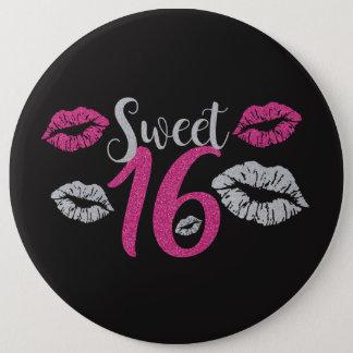 HUGE Birthday Girl Sweet 16 6 Cm Round Badge