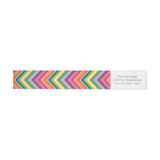 Huge Colorful Chevron Pattern Wrap Around Label