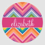 Huge Colourful Chevron Pattern with Name