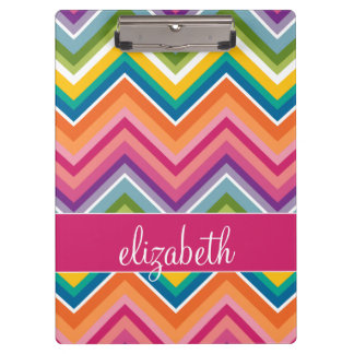 Huge Colourful Chevron Pattern with Name Clipboards