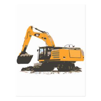 Huge Dirt Excavator Post Cards