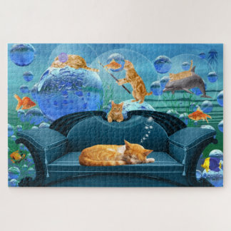 HUGE Fun for the Ginger Cat Lover a Feline Fantasy Jigsaw Puzzle