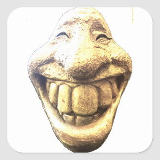 Huge Happy Face Square Sticker