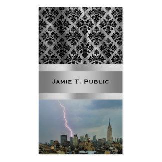 Huge Lightning Strike Over Midtown NYC Skyline Pack Of Standard Business Cards