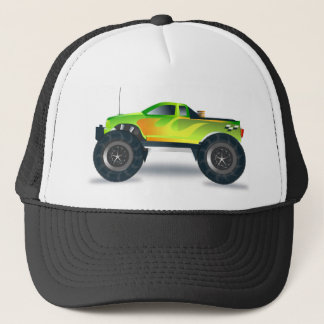 Huge Monster Truck Speedway-lover Design Trucker Hat
