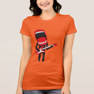huge mouth guitar player T-Shirt