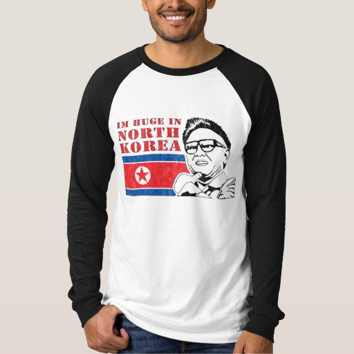 huge only in north korea - kim jong il t-shirts