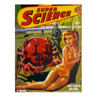 Huge Red Dog Insect Postcard