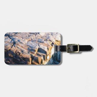 huge rock cube luggage tag