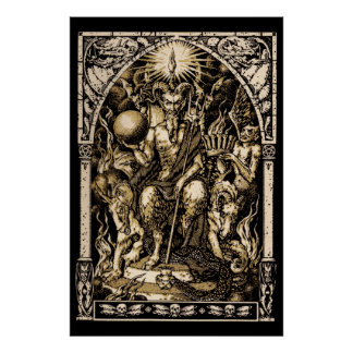 HUGE Satan Enthroned wall art 40x60