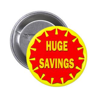 HUGE SAVINGS RETAIL BADGE