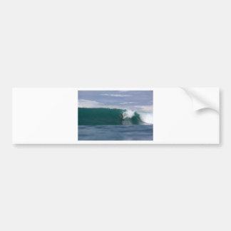 Huge surf surfing paradise tropical green waves bumper sticker