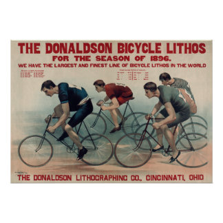 Huge Vintage Mens Sports Cycling Cycling fans Poster