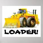 Huge Yellow Digger Loader Poster