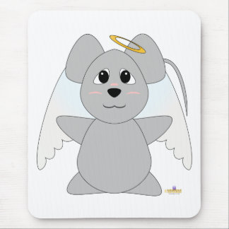 Huggable Angel Gray Mouse Mouse Pad