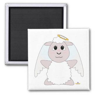 Huggable Angel White Sheep Refrigerator Magnets