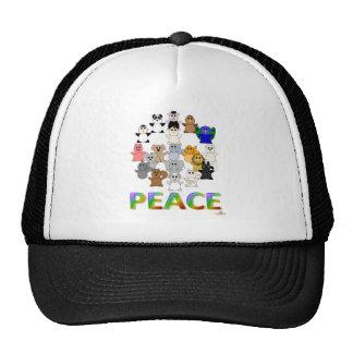 Huggable Animals Peace Sign Peace Trucker Hat