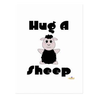Huggable Black Sheep Hug A Sheep Postcards