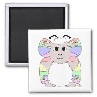 Huggable Butterfly White Sheep Fridge Magnets