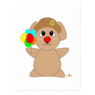 Huggable Clown Koala Bear Postcards
