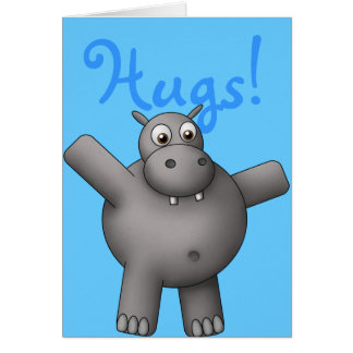 Huggable Hippo Card