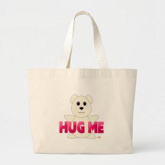 Huggable Polar Bear Pink Hug Me Tote Bag