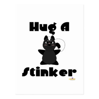 Huggable Skunk Hug A Stinker Postcard