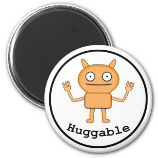 Huggable - Standard, 2¼ Inch Round Magnet