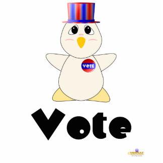 Huggable Voting White Chicken Vote Photo Sculpture Badge