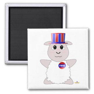 Huggable Voting White Sheep Magnet