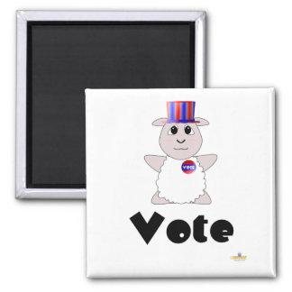 Huggable Voting White Sheep Vote Magnet