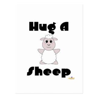 Huggable White Sheep Hug A Sheep Post Cards