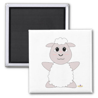 Huggable White Sheep Refrigerator Magnets