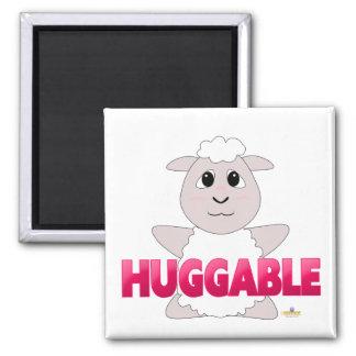 Huggable White Sheep Pink Huggable Fridge Magnets